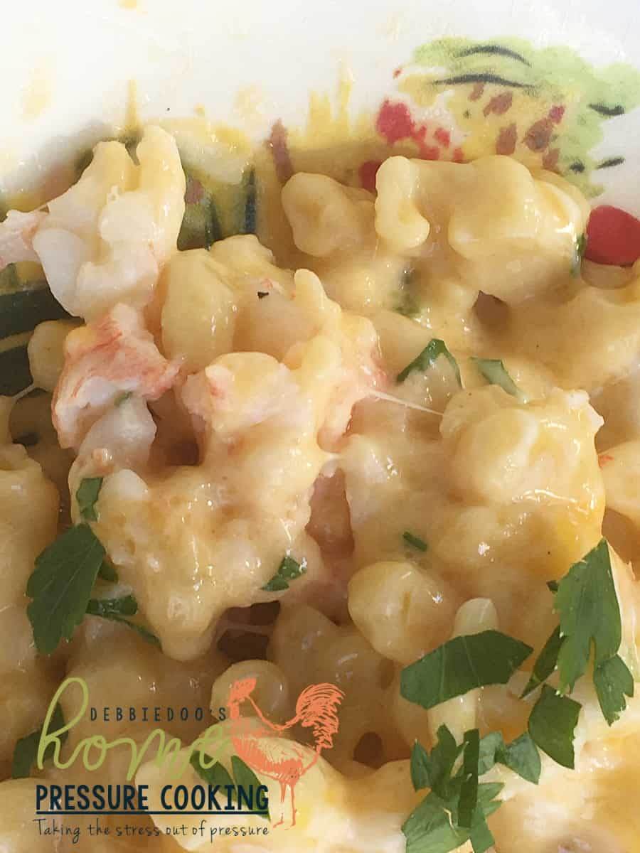 Lobster macaroni and cheese in the pressure cooker - Home Pressure Cooking