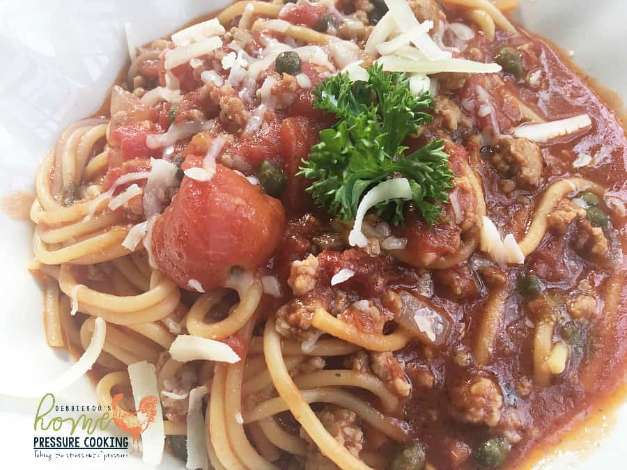How to make Spaghetti bolognese in the pressure cooker