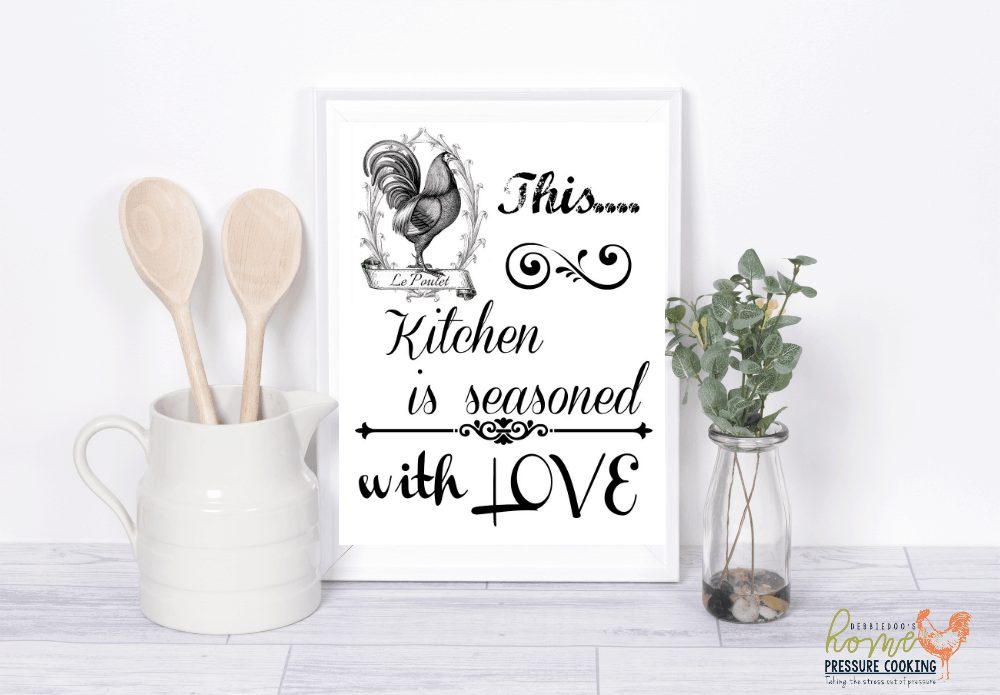 Kitchen printables for pressure cooking lovers home for Lovers home