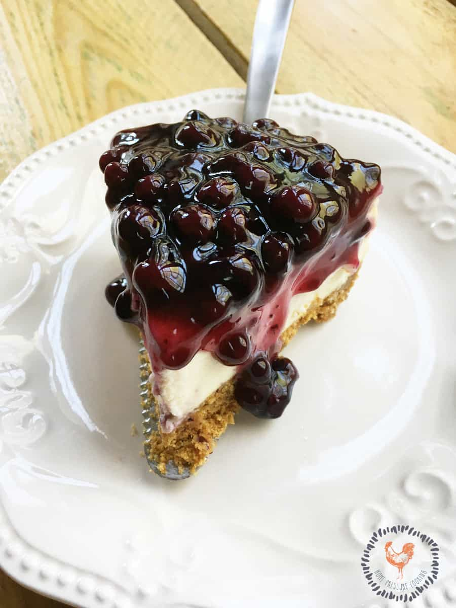 How to make a blueberry cheesecake in the Instant Pot