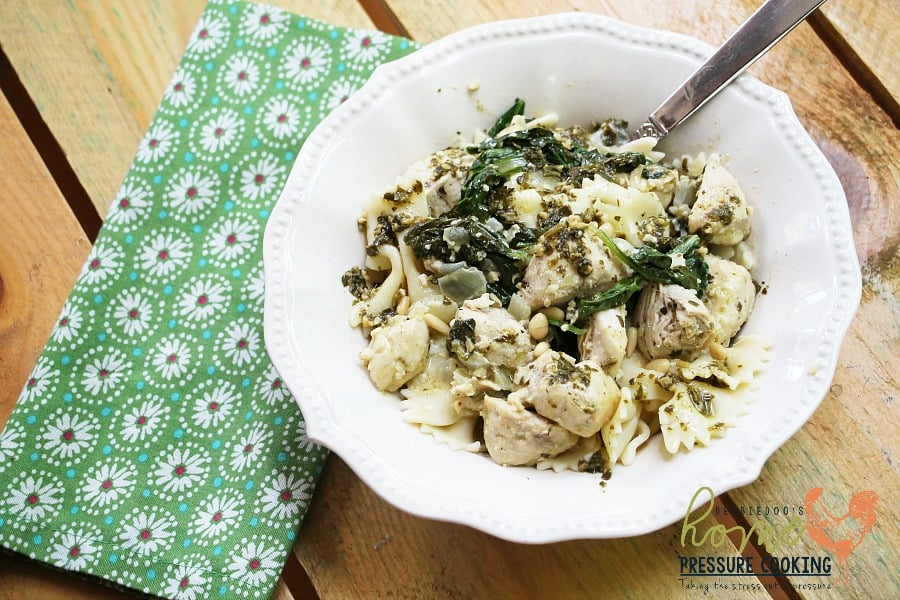 How to make Pesto Pasta Chicken Florentine in the Instant Pot