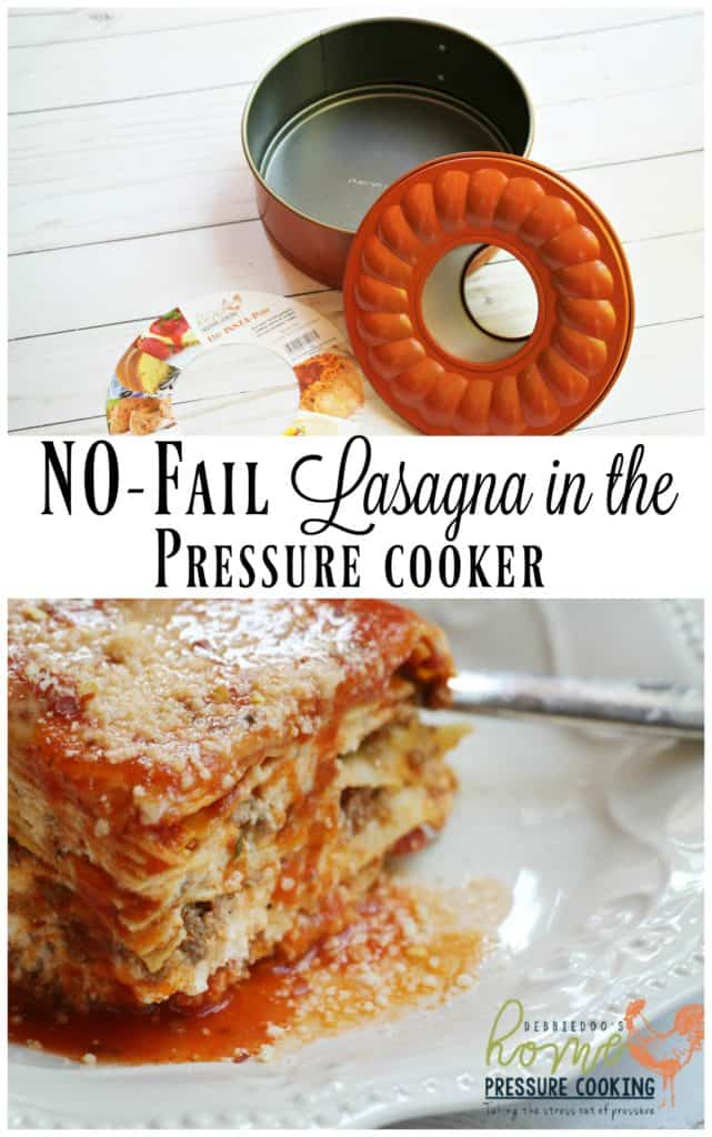 how to cook lasagna in a pressure cooker