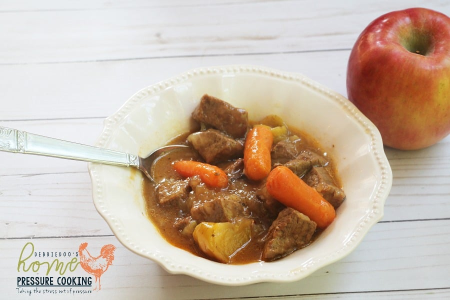 Apple Beef stew in the Instant Pot