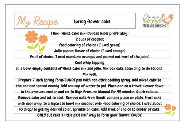 Coconut Cake Recipe In Pressure Cooker: How To Make A Spring Flower Cake In The Instant Pot