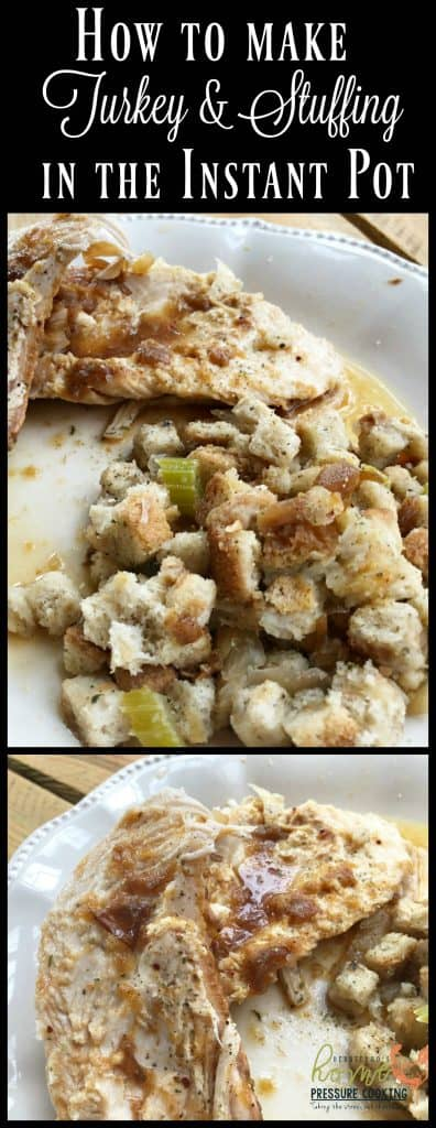 Instant Pot Turkey breast and stuffing. It doesn't have to be Thanksgiving to enjoy a turkey dinner. Not to mention, clean up and work is almost non-existent. So simple.