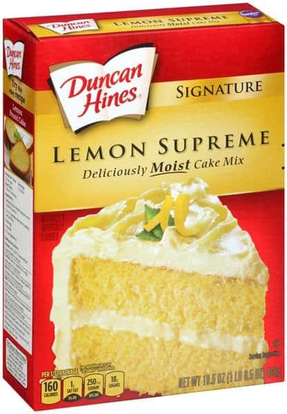 Lemon Cake Made With Duncan Hines Yellow Cake Mix