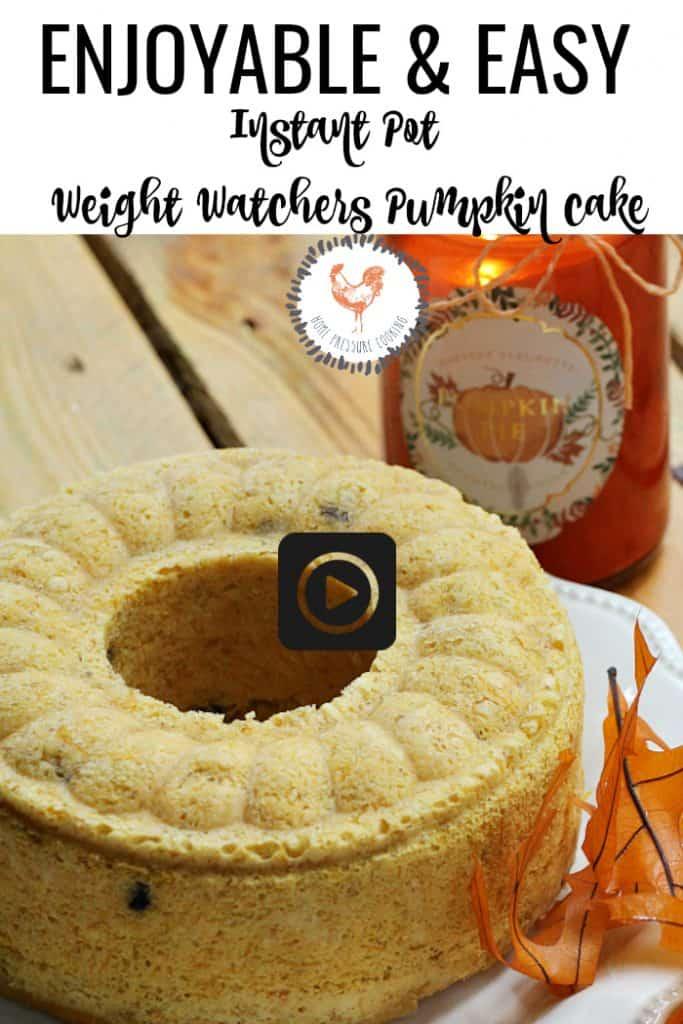 Weight Watchers pumpkin banana cake in the Instant Pot