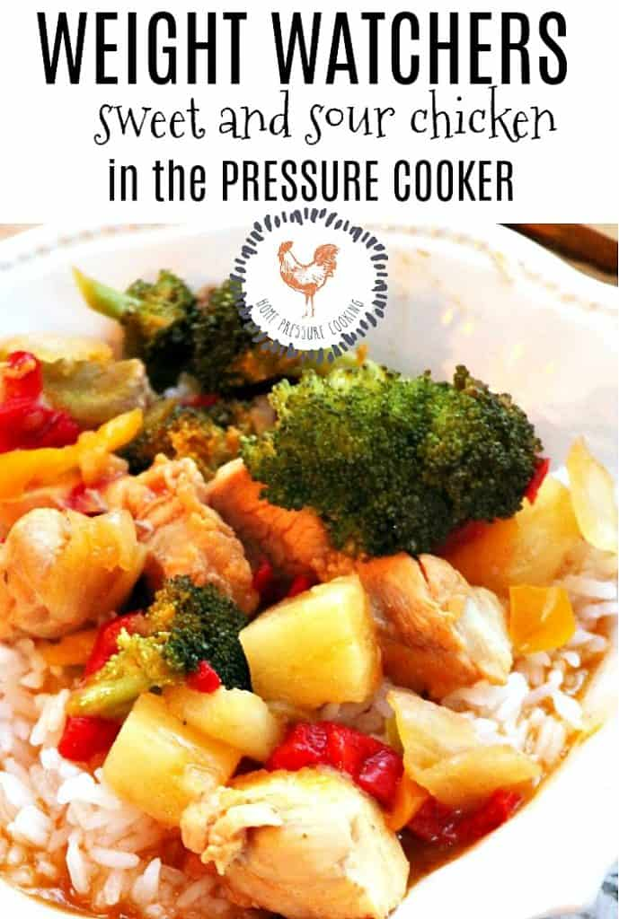 Weight Watchers Sweet and Sour Chicken pinterest image