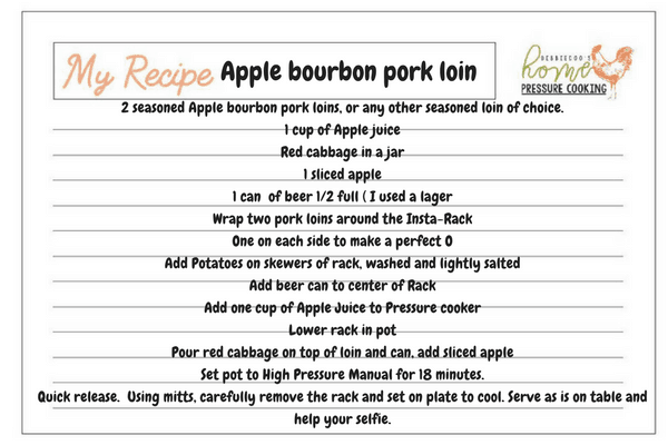 Apple bourbon pork loin