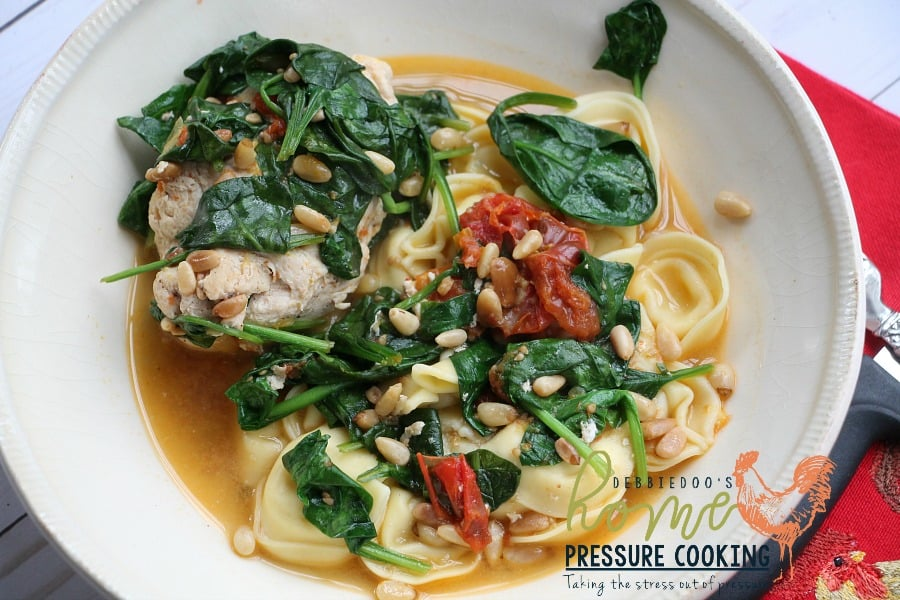 Instant Pot Tuscan chicken with spinach and pine nuts