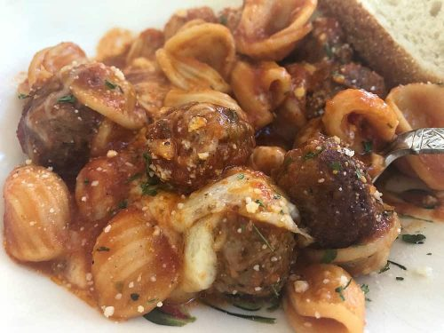 How to make Pasta and Meatballs in the Ninja Foodi