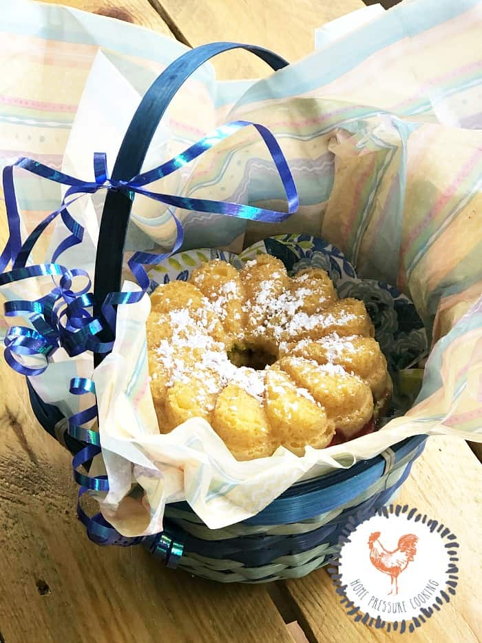 Pineapple Infused Mini Bundt Cake Made In the Pressure Cooker