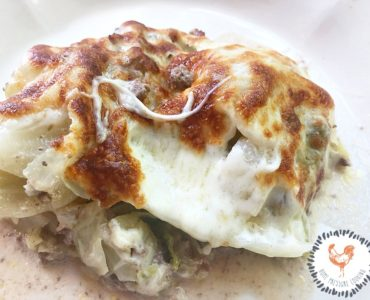 Low Carb Beef Bacon Cabbage Casserole in the Ninja Foodi