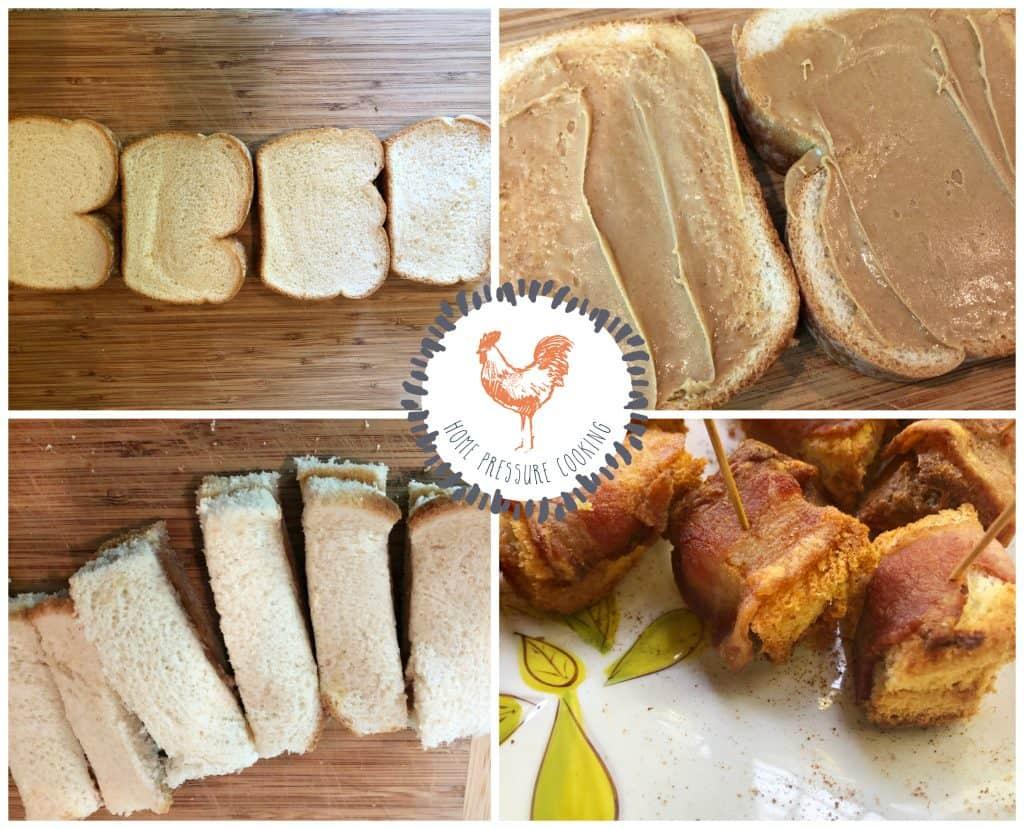 Bacon Peanut butter bites in the Ninja Food/Air Fryer