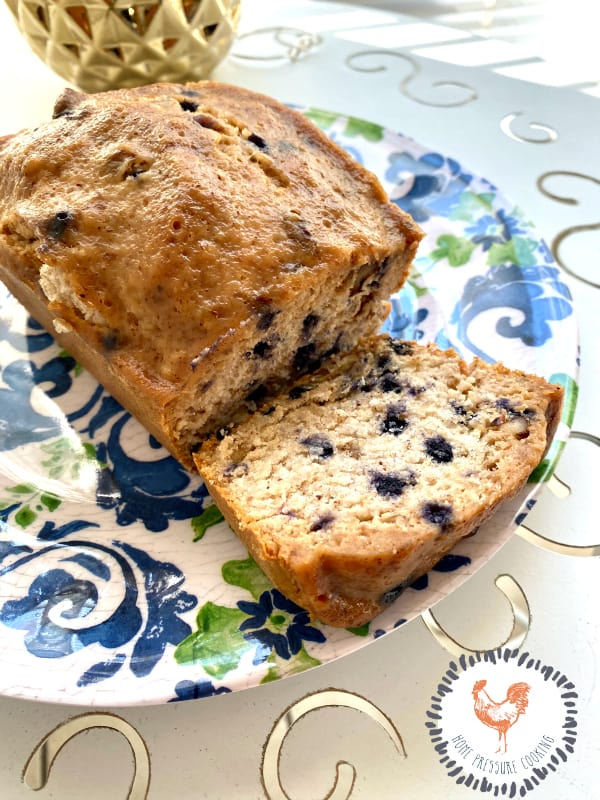 Blueberry Banana bread in the Instant Pot Pressure Cooker