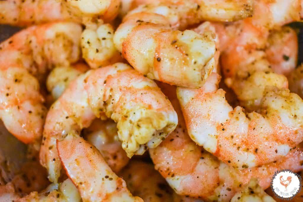 Instant Pot corn and shrimp chowder
