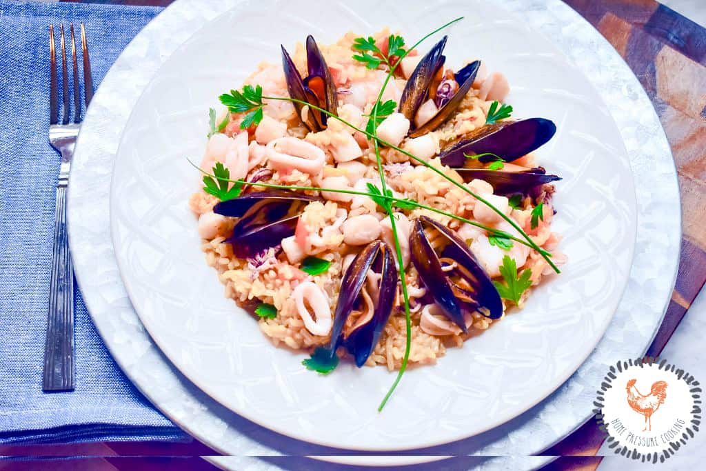 Instant Pot Seafood Paella