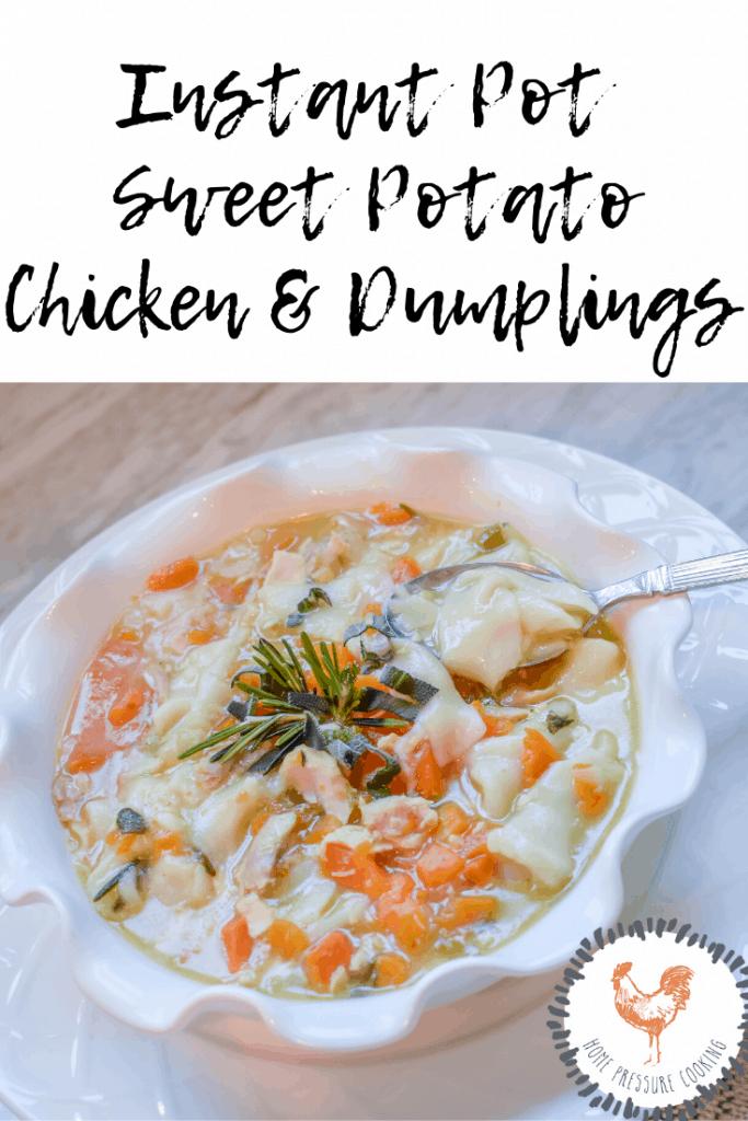 How to make Instant Pot Sweet Potato Chicken & Dumplings