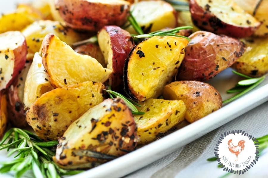 Roasted red potatoes in the Ninja Foodi Grill
