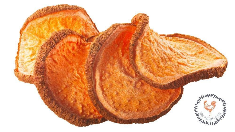 Ninja Foodi dehydrated sweet potatoes for your dog or self