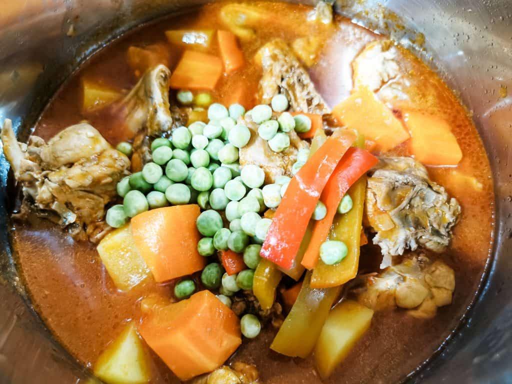 Instant Pot Afritada Filipino Chicken Stew in Tomato Sauce