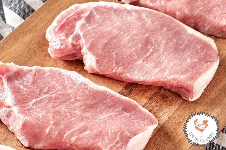 Boneless pork chops for Dr. Pepper pork chop Instant Pot recipe