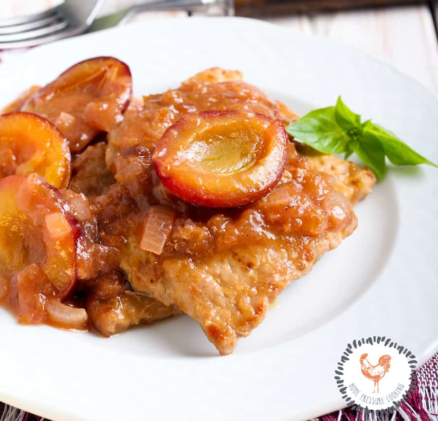 Dr. Pepper Plum sauce Instant Pot pork chops