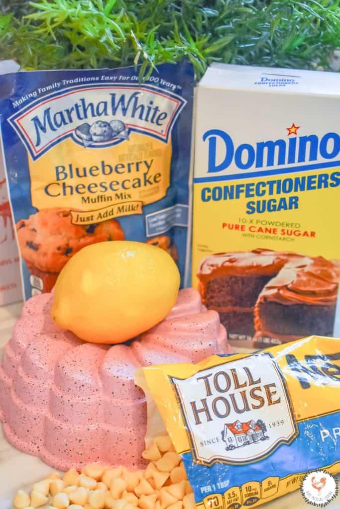 Instant Pot Lemon Blueberry Cheesecake Bundt Ingredients JENRON DESIGNS