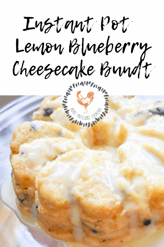 Instant Pot Lemon Blueberry Cheesecake Bundt