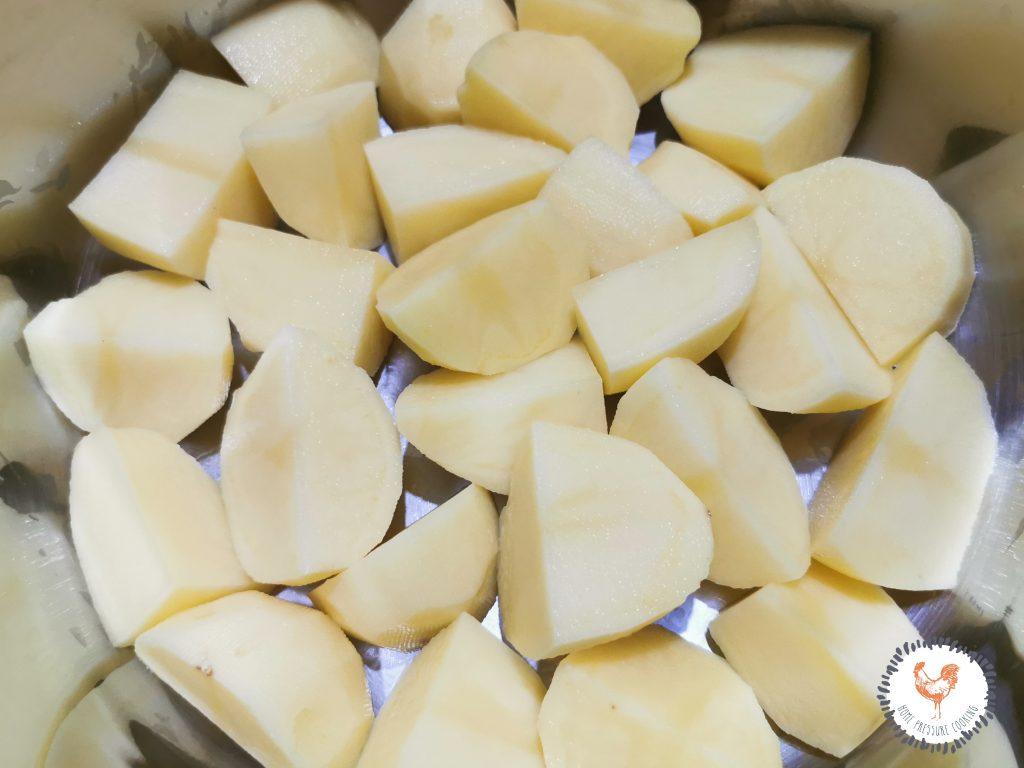 Sliced Potatoes in Instant Pot