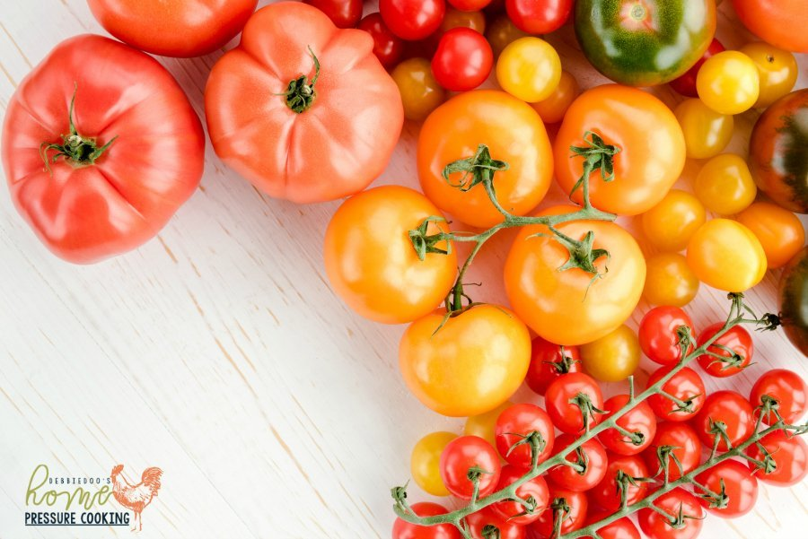 Fresh tomatoes for salsa in the Instant Pot