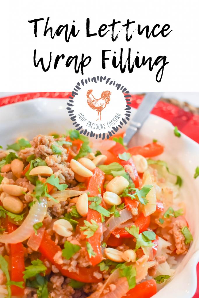 Instant Pot Easy Thai Lettuce Wrap Filling