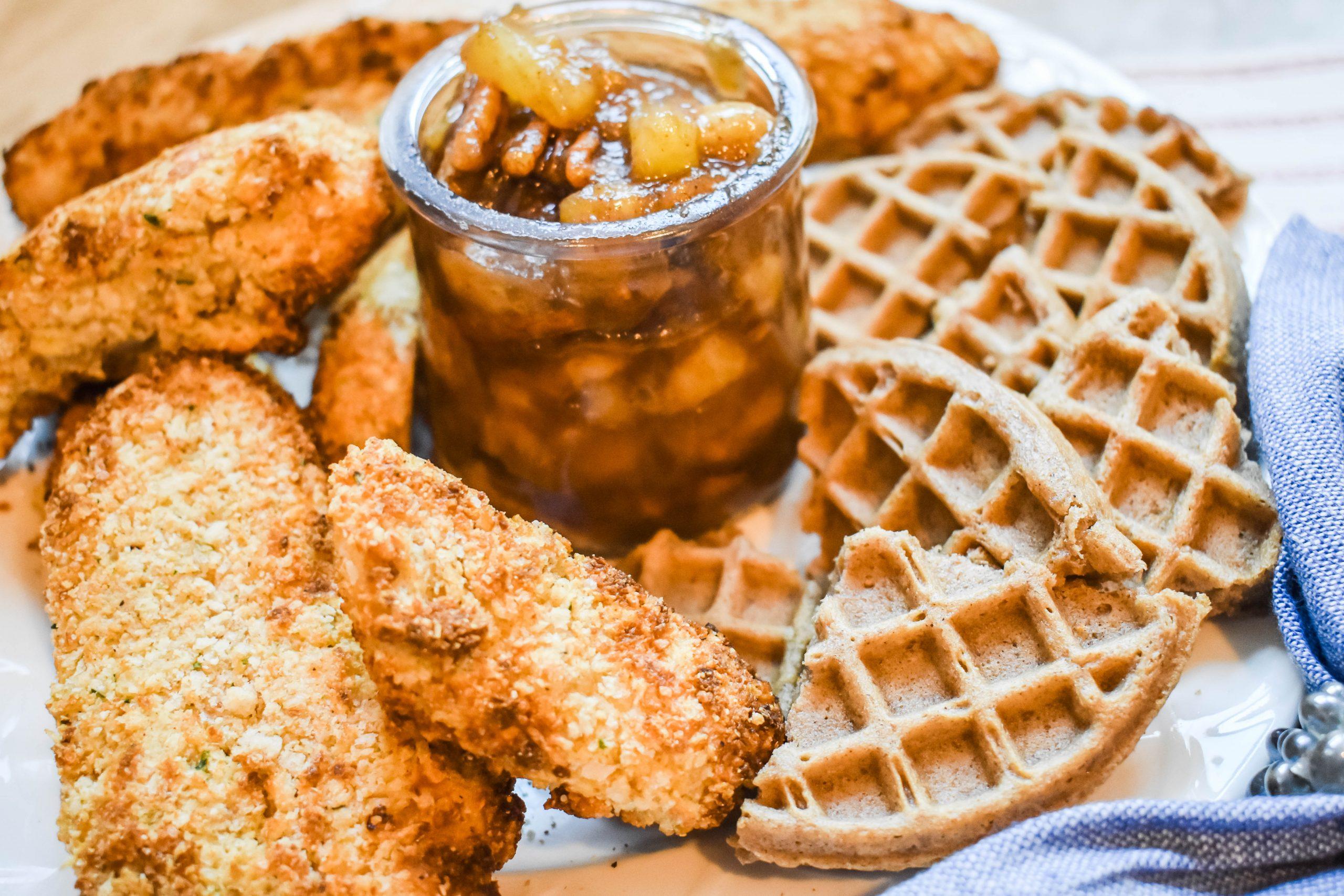 Air-Fryer-Chicken-Waffles-JENRON-Designs