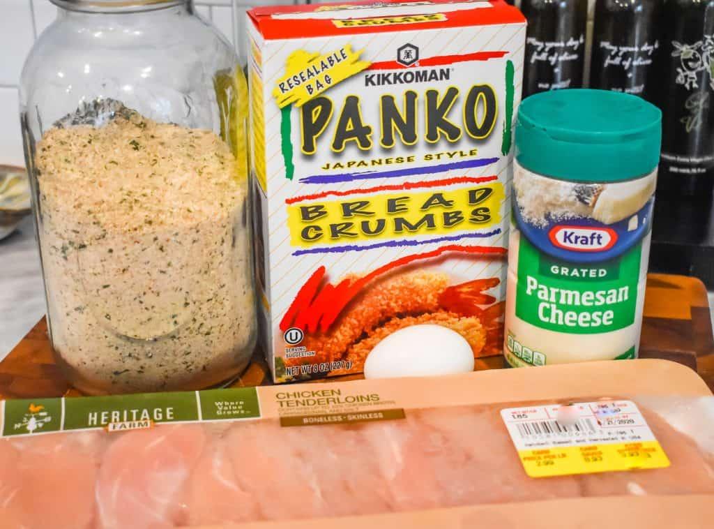 Ingrediants-Air-Fryer-Chicken-Waffles-JENRON-Designs