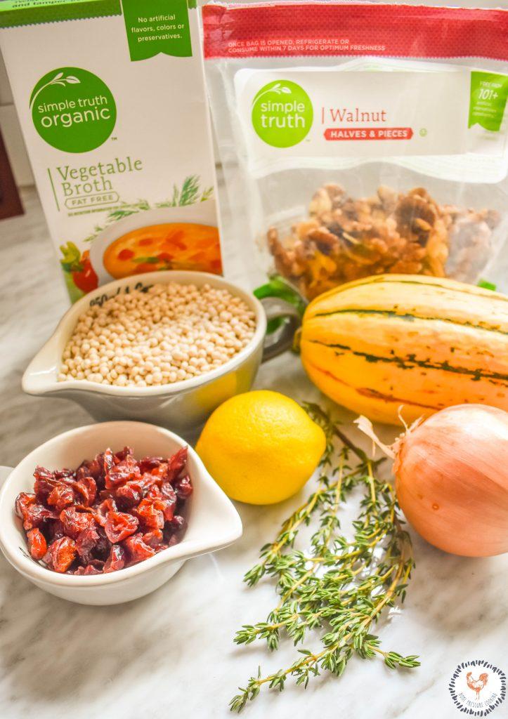 Cran-Couscous Stuff Delicata Squash Ingredients JENRON DESIGN