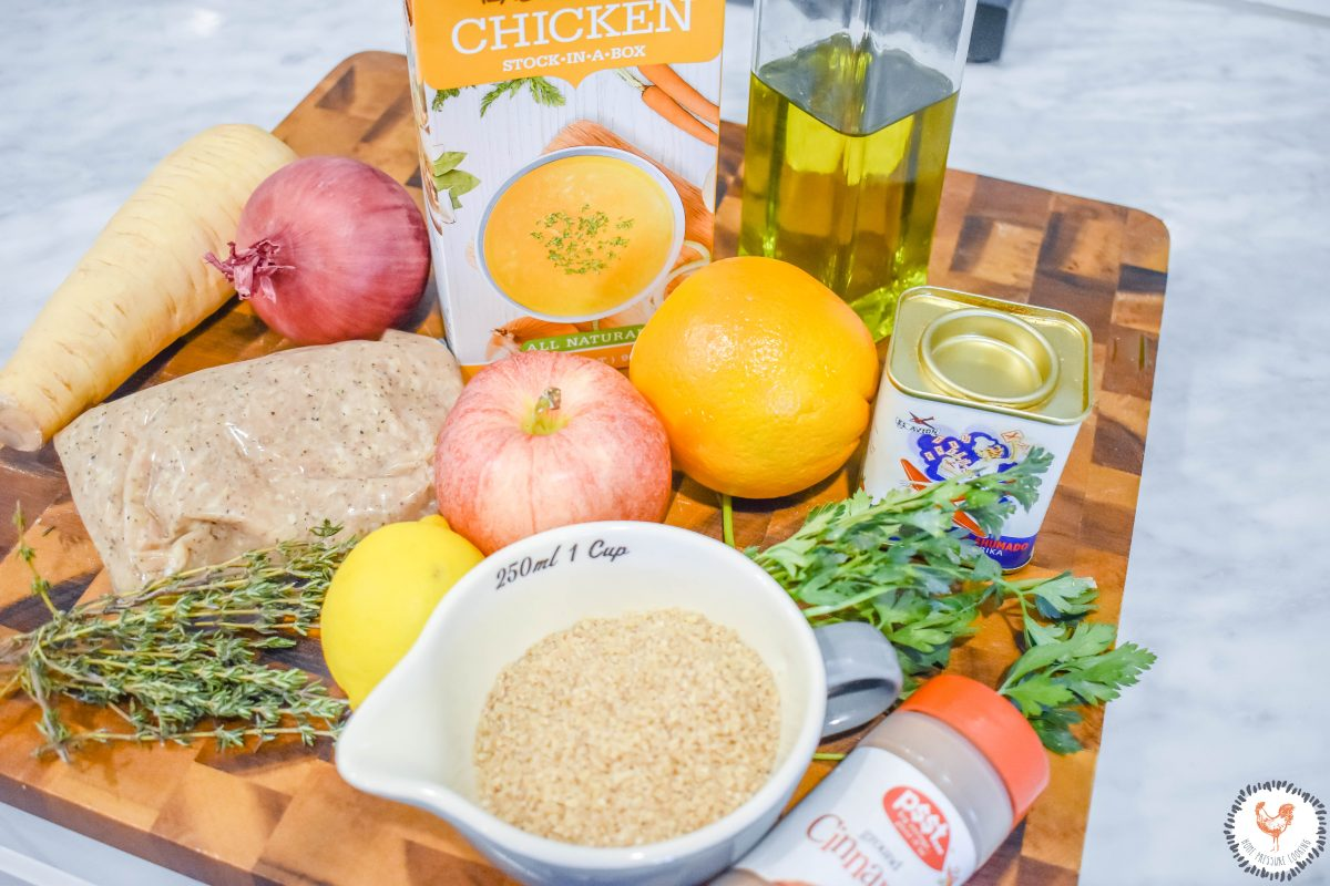 Ingredients-for-Chicken-Sausage-Bowl-with-Roasted-Apples-Parsnips-JENRON-DESIGNS