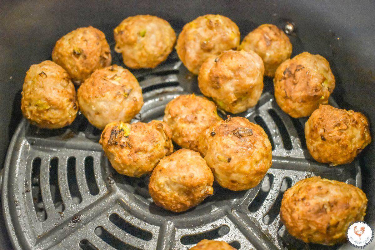 Air Fryer Thai Coconut Meatballs Baking JENRON DESIGNS