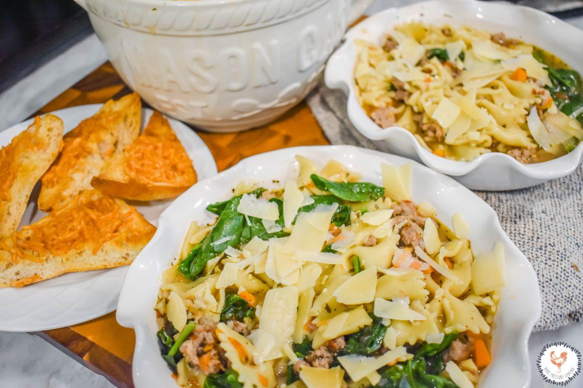 nstant Pot Italian Farfalle Soup JENRON DESIGNS