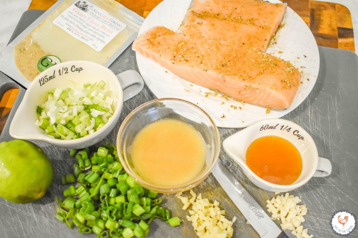 Orange Marmalade MIso Salmon Ingredients JENRON DESIGNS