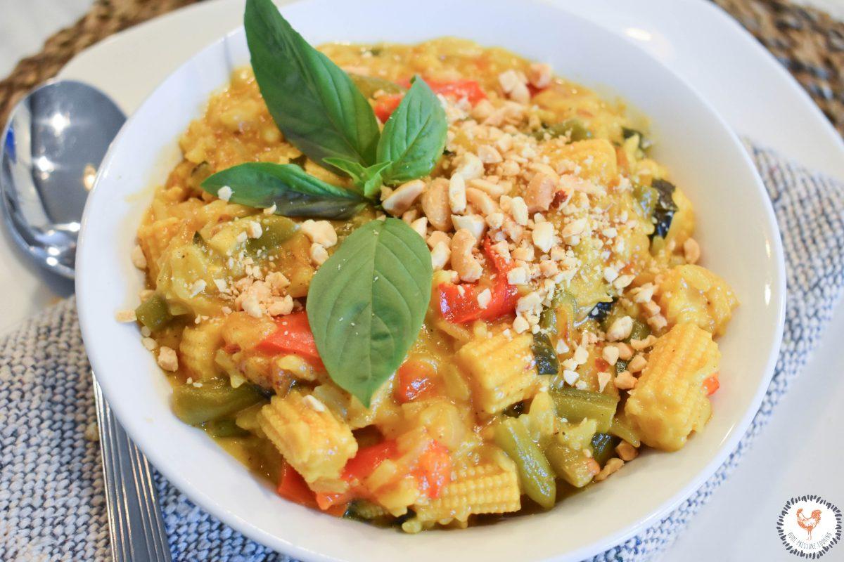 Instant Pot Thai Basil Vegtable Curry JENRON DESIGNS