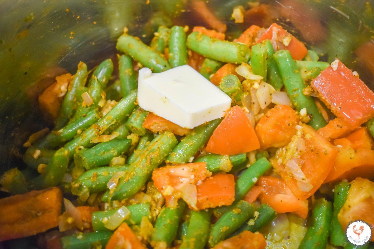 Thai Basil Vegetable Saute with butter JENRON DESIGNS