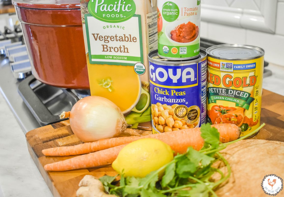 Chickpea Tomato Soup Ingredients