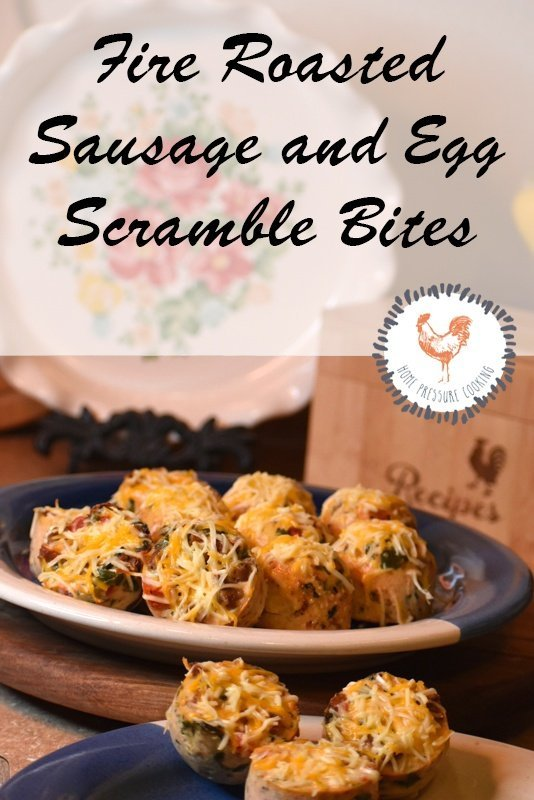 Fire Roasted Sausage and Egg Scramble Bites