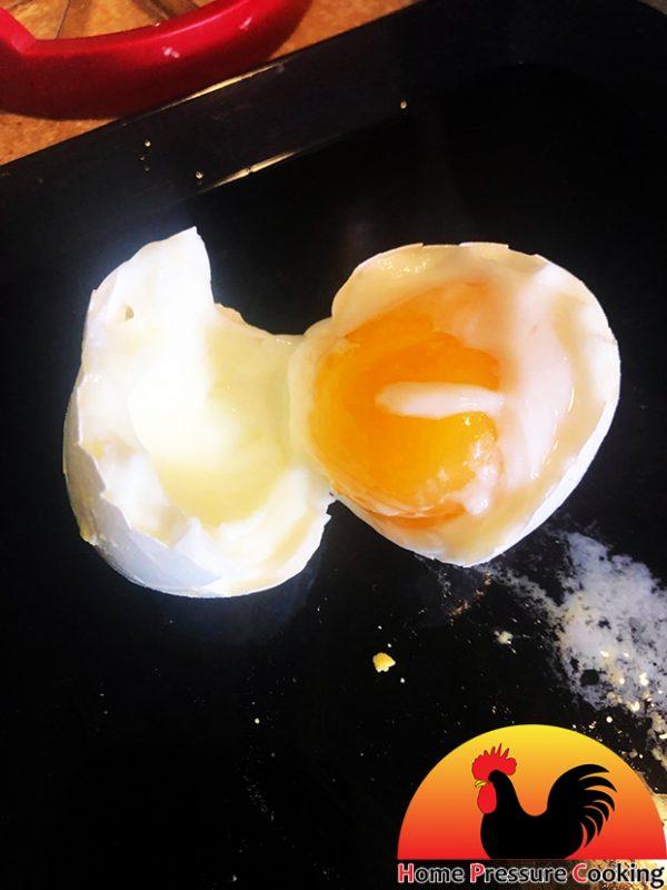 Undercooked Hardboiled Egg