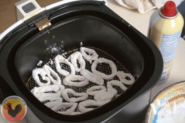 air frying calamari