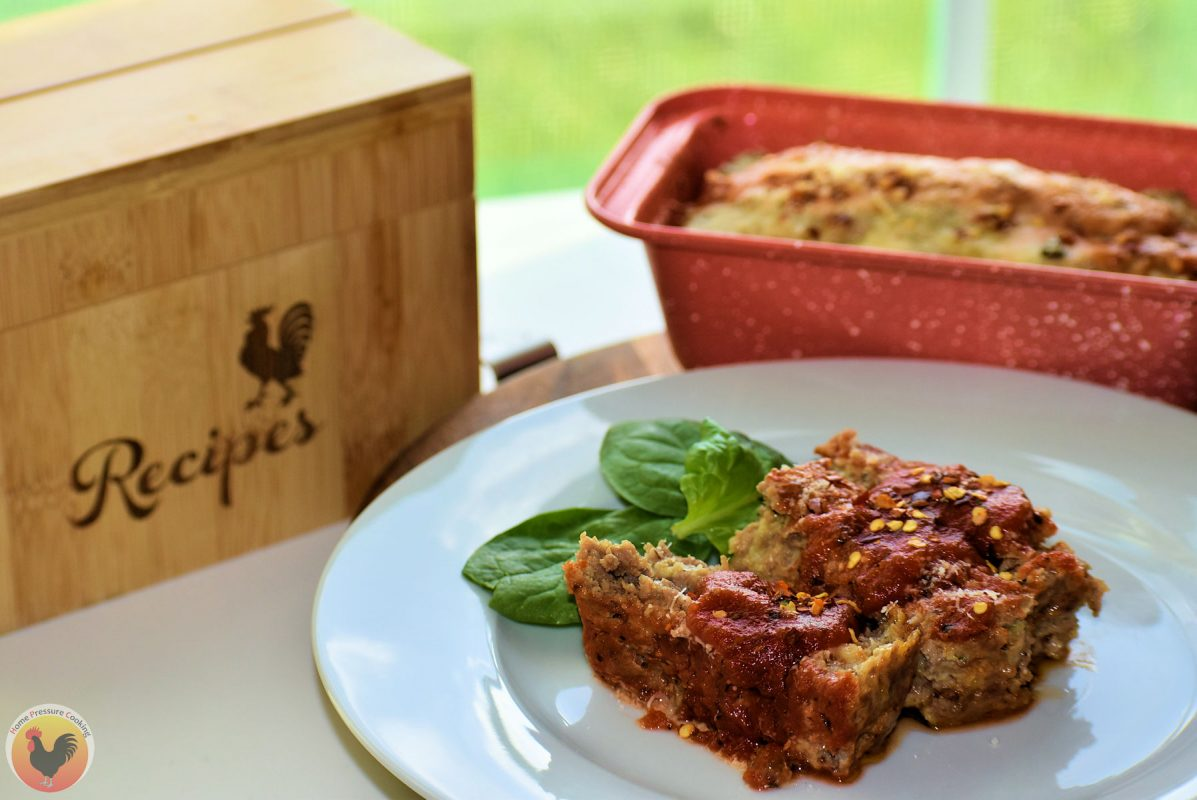 Super Easy Italian Meatloaf ready to eat