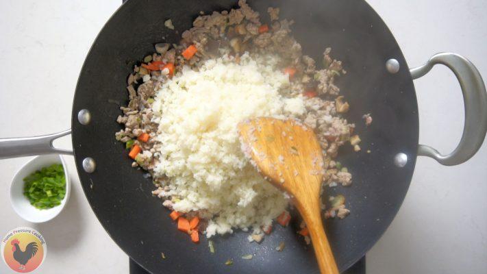 Adding Chicken and Cauliflower