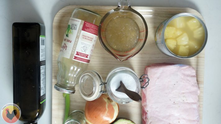 Ingredients for Pork and Pineapple