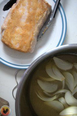 Pork and braising ingredients